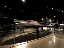 Lockheed Martin SR-71. Dayton, Ohio / USA - October 15, 2017 Lockheed Martin SR-71 `Blackbird` on display at the the National Museum of the United States Air Royalty Free Stock Photo