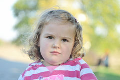 Lockig flicka Royaltyfri Fotografi