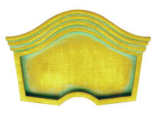 Lockig guld- ram Arkivfoton