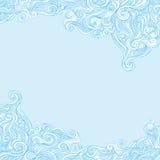 Lockig och krabb bakgrund Arkivbild