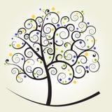 lockig tree Arkivbild