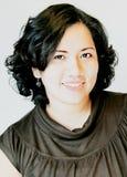 lockiga hår för asiatisk skönhet Arkivbilder