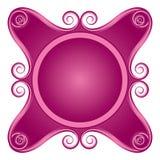 Lockige rosafarbene Beschaffenheitsabbildung stock abbildung