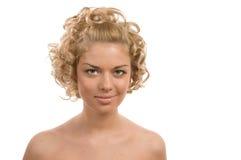 Lockiges blondes Lizenzfreie Stockbilder