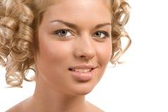 Lockiges blondes Lizenzfreie Stockfotografie