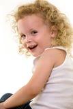 Lockiges blondes Haar stockfoto