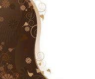 Lockiges Blumenmuster Lizenzfreies Stockfoto