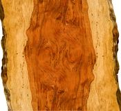 Lockiges bubinga Holz Stockfoto