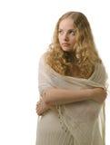 Lockiges Haar blond Lizenzfreie Stockfotografie