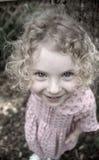 lockigt flickahår royaltyfri fotografi