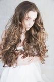 Lockigt hår royaltyfria foton