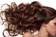 Lockigt långt hår. Högkvalitativt avbilda. royaltyfria foton