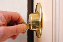 Free Locking A Dead Bolt Stock Photo - 11988520