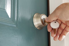 Locking the Door Royalty Free Stock Photography
