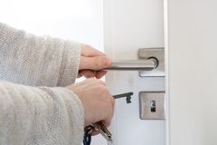 Locking door Stock Photography