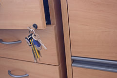 Locking drawer Stock Image