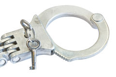 Locking old handcuff Stock Photos