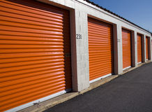 Locking Storage Units. In a security facility Royalty Free Stock Photo