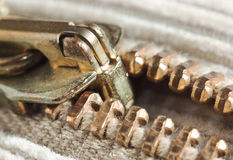 Locking zipper Royalty Free Stock Photos