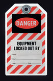 Lockout Tag. Tag warning that equipment has been locked out Stock Photography