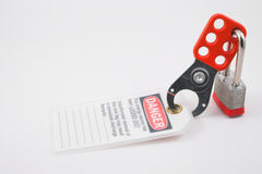 Lockout Tagout stock image
