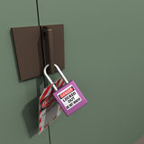 Lockout Tagout. #4. Safety Measures used to secure equipment while under repair, inspection or out of service Stock Photo