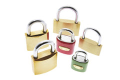 Locks. A Selection of Locks Isolated on White Background stock photography