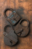 Locks. Old rusty locks Royalty Free Stock Photos