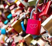 Locks as symbol for everlasting love royalty free stock photo