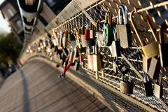 Locks bridge. Detail of Locks bridge in Cracow, Poland Stock Image