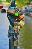 Locks on the bridge Stock Photos
