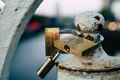 Locks on the Bridge stock photography