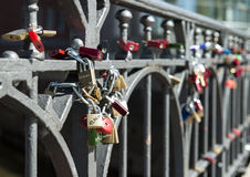 Locks on a bridge Royalty Free Stock Image