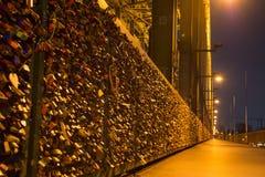 Locks at the bridge Stock Image