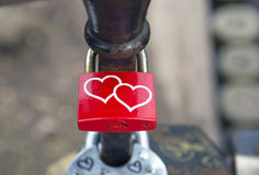 Locks on bridge of lovers Royalty Free Stock Images