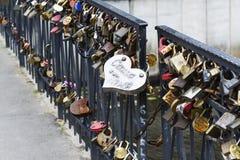 Locks on the bridge Royalty Free Stock Photography