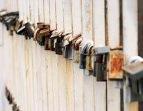 Locks on a bridge Stock Photography