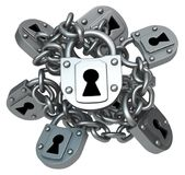 Locks Chain Bunch Royalty Free Stock Photo