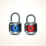 Locks closed unclosed Royalty Free Stock Photography
