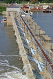 Locks and dam 19. Locks and dam on the Illinois river Royalty Free Stock Images