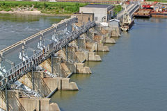 Locks and dam 30. Locks and dam on the Illinois river Stock Photography