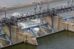 Locks and dam 35. Locks and dam on the Illinois river Royalty Free Stock Photo