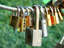 Locks details Royalty Free Stock Photography