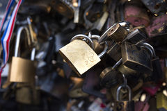 Locks engraved with Paris Royalty Free Stock Images