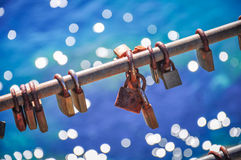 Locks for good luck Stock Photo