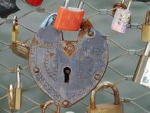 Locks in Graz in Austria Royalty Free Stock Images