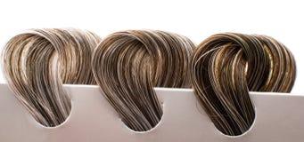 Locks of hair with gray Stock Photos