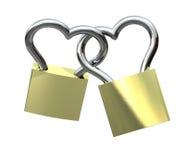 Locks - Heart Shaped, isolated Stock Photography