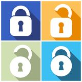 Locks Icons Royalty Free Stock Photos