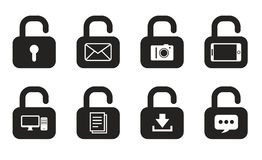 Locks icons Royalty Free Stock Image